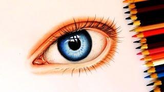Como Desenhar um Olho Realista Com Lápis de Cor | How to Draw Realistic eye