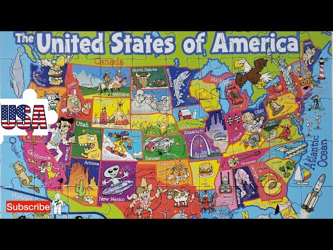 The United State of American Map Puzzle - Let's Piece and Learn Together!