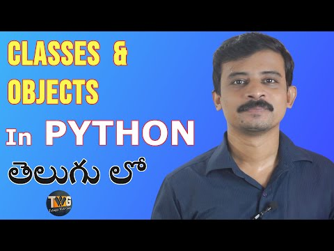 PYTHON TUTORIAL IN TELUGU - Part 11 | class and object  in Python | Telugu Web Guru thumbnail