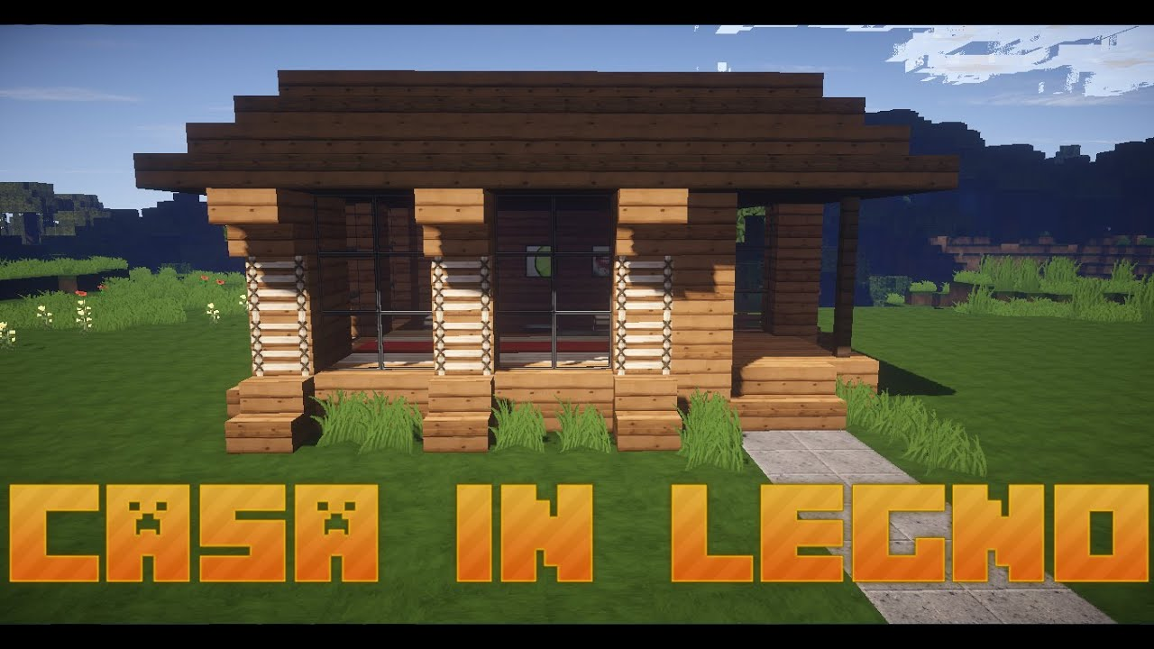 come costruire una casa in legno minecraft ita youtube