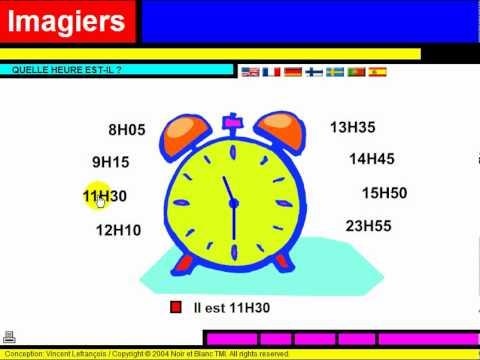 lezione di francese vocabulaire quelle heure est il youtube. Black Bedroom Furniture Sets. Home Design Ideas