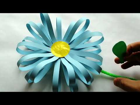 Easy Paper and PomPom Flowers! 4 Types of Flowers-DIY