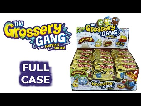The Grossery Gang Full Case Unboxing Yuck Bars Blind Bags Entire Case