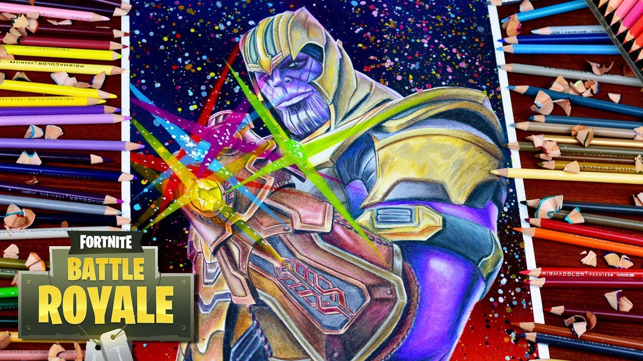 Drawing Fortnite Battle Royale Thanos Infinity Gauntlet