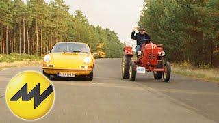 Porsche Diesel Traktor vs Porsche 911   Motorvision