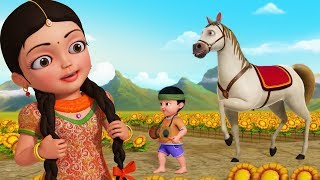 Agdum bagdum ghoda dum saaje   Bengali Rhymes for Children   Infobells