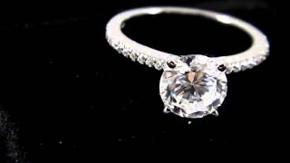 1.80 CT Round Cut VVS1/D Solitaire Size 7 Engagement Ring White Gold