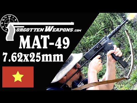 Vietnamese MAT-49 in 7.62mm Tokarev at the Range