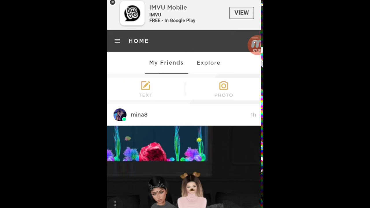 How to get into a group on mobile(IMVU)
