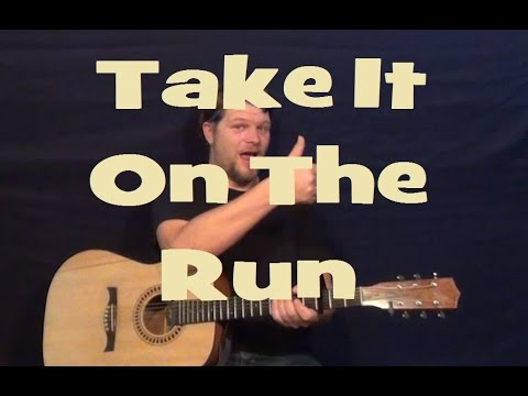 Take It On The Run (REO Speedwagon) Easy Guitar Lesson How to Play ...