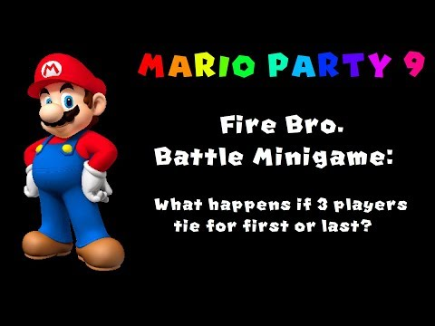 Mario Party 9: 3-Way Tie in 4 Player Fire Bro. Minigame