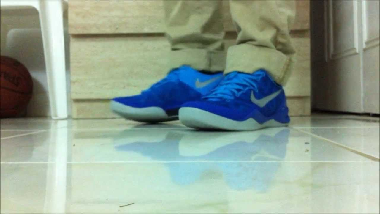 the latest e1ada c0285 Nike Kobe 8 (VIII) SYSTEM  Blue Glow Lights  on FEET