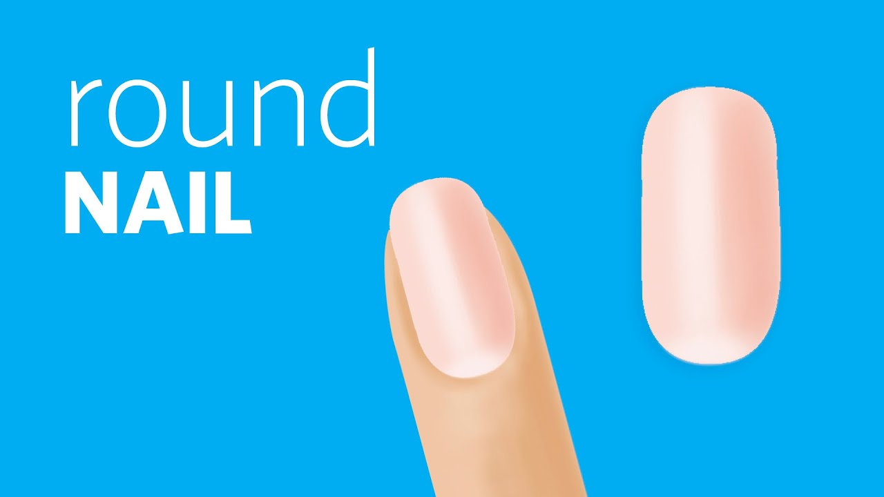 How to File a Round Nail Shape - YouTube