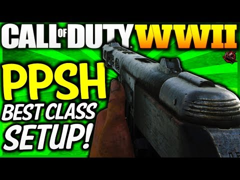 "Call of Duty: WW2 - BEST ""PPSH"" CLASS SETUP! (COD WW2 Multiplayer Best Class Setup) thumbnail"