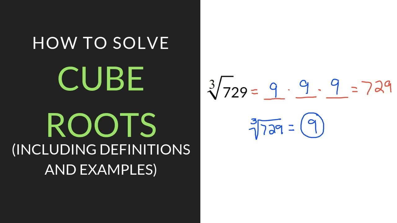 medium resolution of A Quick Explanation of How to Find Cube Root   Mathcation