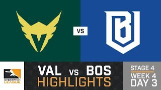 HIGHLIGHTS Los Angeles Valiant vs. Boston Uprising   Stage 4   Week 4   Day 3   Overwatch League