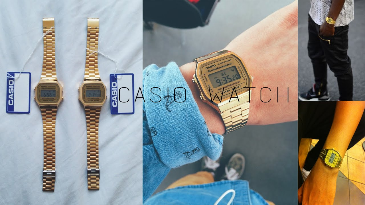 6b2278414d1 Unboxing Aliexpress  29 - Relógio Dourado Casio - YouTube