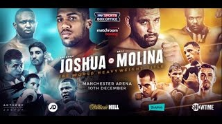 ANTHONY JOSHUA v ERIC MOLINA - 10th DECEMBER 2016 @ MANCHESTER ARENA, ENGLAND