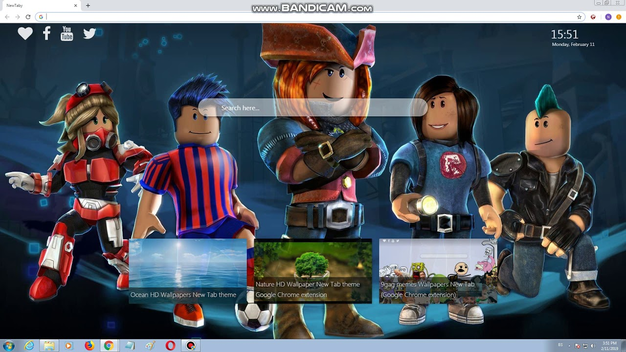 Roblox Wallpapers New Tab Chrome Extension Youtube