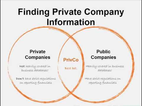 Finding Private Company information with PrivCo