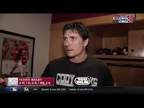 Homer Bailey admits he's 'pretty used to frustration' after injury-related early exit