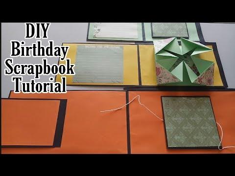 DIY Birthday Scrapbook Full Tutorial || DIY Cake Scrapbook for Birthday || Cute Birthday scrapbook