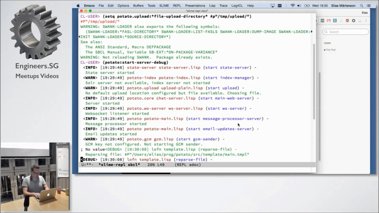 Download Web Development in Emacs, Common Lisp and Clojurescript - Emacs SG