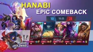 Never Surrender ! Epic Comeback - Top Global 1 Hanabi - S17 - Mlbb