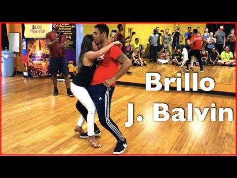 J Balvin - Brillo (Letra) ft Rosalía   Brazilian Zouk Dance   William Teixeira & Paloma Alves