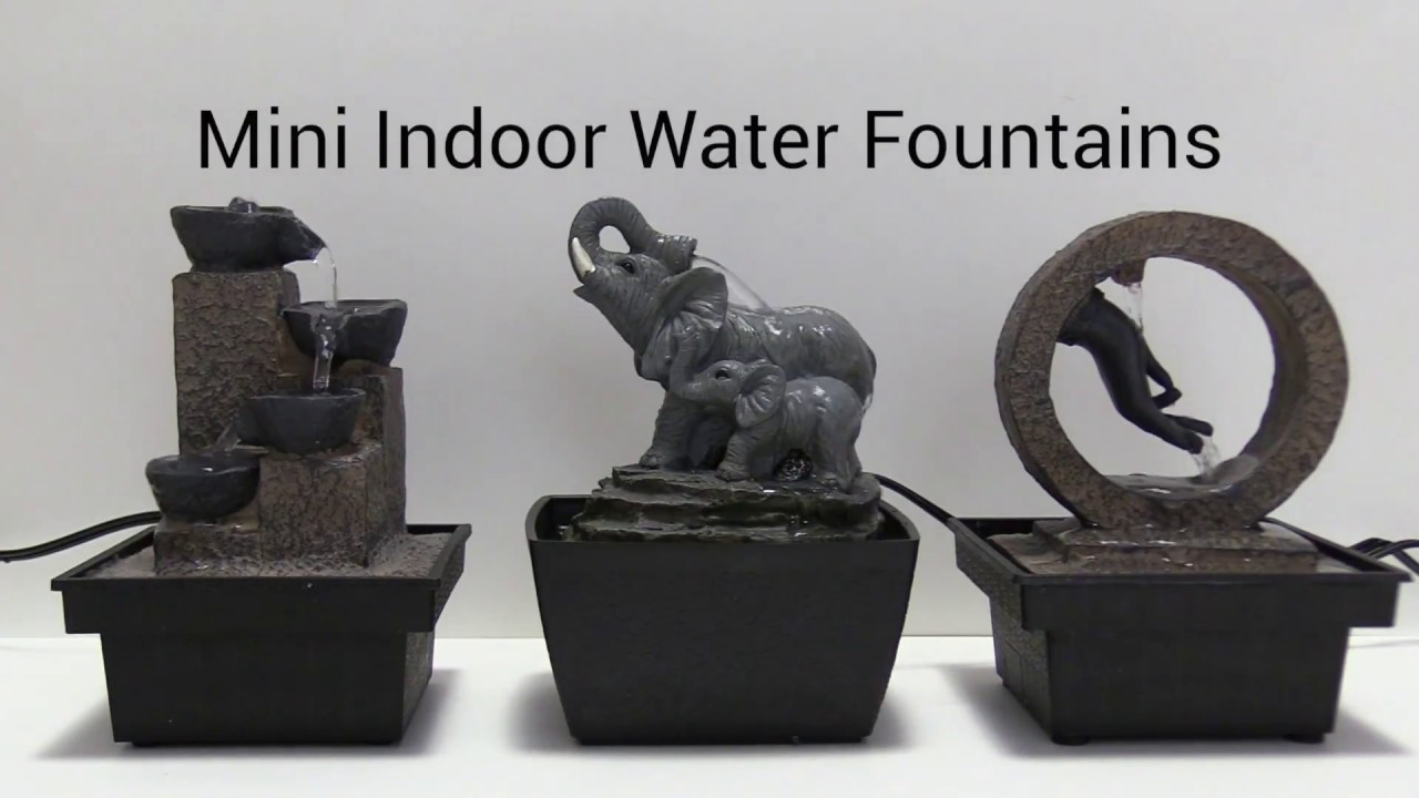 Mini Indoor Water Fountains - YouTube