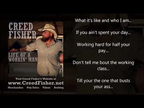 Creed Fisher - Life Of A Workin' Man (Lyric Video) Mp3
