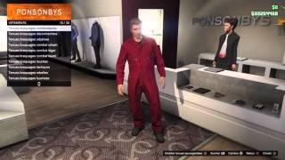 Gtitch GTA 5 Online tenue modder solo bras + corps invisible