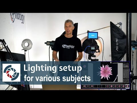 Lighting setup for various subjects in product photography: Friday photo talk at Photigy
