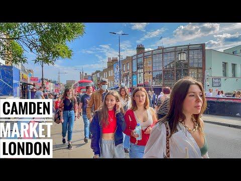 London Walk Camden Market London 2021  London Street Food   Camden High Street [4K HDR]