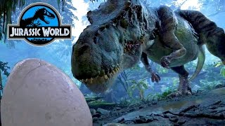 REAL Angry T-REX Mommy & Baby Dinosaur Eggs Jurassic Family Fun Amusement Park Virtual Reality