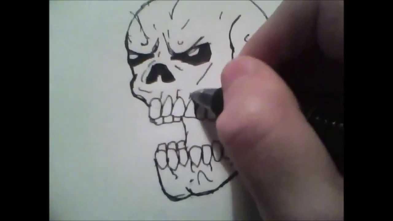 Easy Beginner Skull: How To: Draw A Basic Skull For Beginners