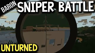 Unturned Multiplayer Gameplay - The Sniper Battle With Glitchers, Hackers, Wtf?!?
