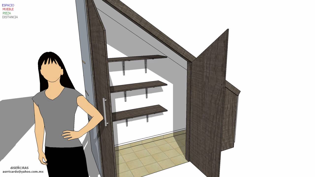 Closets y mueble escalera angel 2 youtube for Muebles para tv bajo escalera