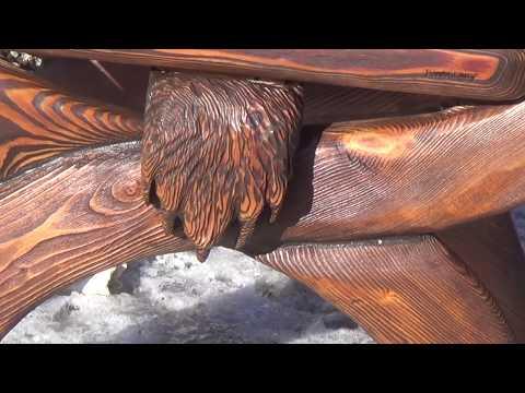 СТУЛ ПО НЕОБЫЧНОЙ ТЕХНОЛОГИИ под старину.wooden chair- БРУТАЛЬНЫЙ