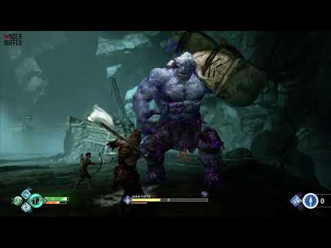 [God of War] Ice Troll Boss Battle (Jarn Fotr)