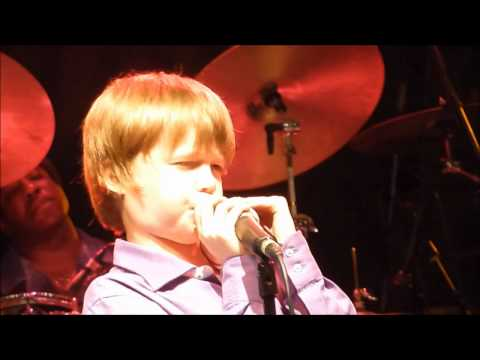 Hoochie Coochie Man by 10 year old Joshua King with the James Cotton Band