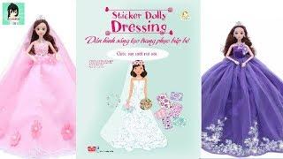 """Dán hình sáng tạo trang phục búp bê #5""""CHIẾC VÁY CƯỚI MƠ ƯỚC"""" Sticker Dolly Dressing Ami Channel"""