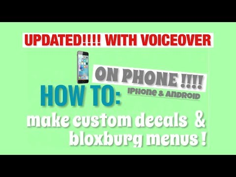 How to make custom decals & bloxburg menus on phone for roblox!   iPhone & Android   UPDATED!