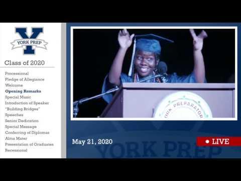 York Preparatory Academy Class of 2020 Graduation Ceremony