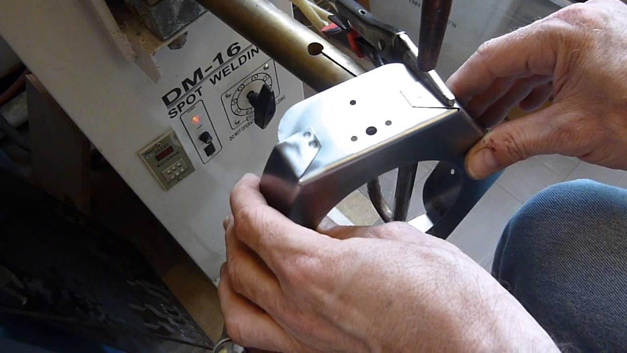 Spot Welding Steel Sheet Metal 0 6mm Thick Youtube