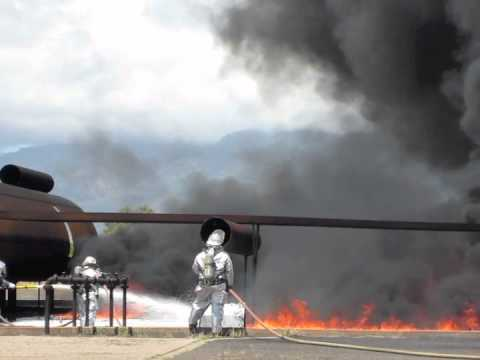 Novacool UEF Extinguishing Class B Fire at Kahalui Airport, Maui, Hawaii