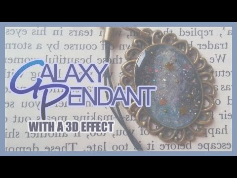 ★ Resin Tutorial ☆ 3D-looking Galaxy Pendant ★