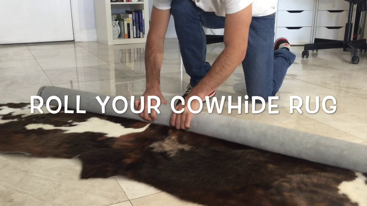 Remove the Creases of your Cowhide Rug