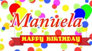 Happy Birthday Manuela Song