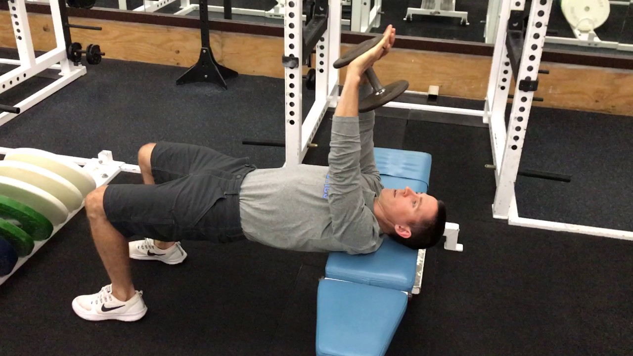 Across Bench Dumbbell Pullover - YouTube